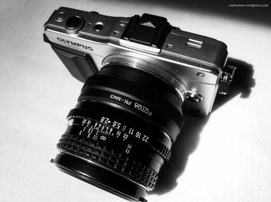 Olympus E-PM2, Fotga PK-M4/3 adapter, Pentax 28mm F/2.8